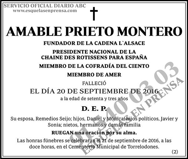 Amable Prieto Montero